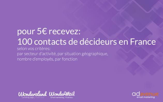 livrer 100 contacts de décideurs (France, Allemagne, UK, Belgique)
