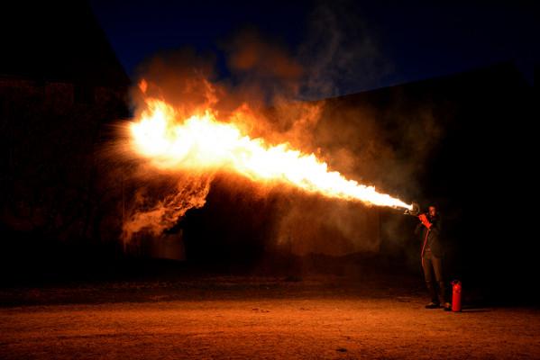 jouer ce que vous voulez avec mon trombone en feu