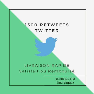 vous ajouter 1500 Retweets sur Twitter