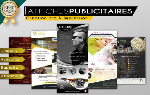 concevoir votre AFFICHE PUBLICITAIRE professionnelle