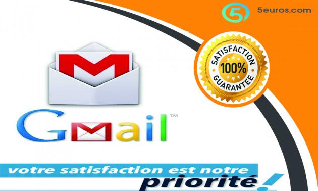 vous fournir 3 nouveaux comptes Gmail vérifiés et confirmé par téléphone
