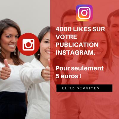 ajouter 4000 likes à votre publication sur Instagram