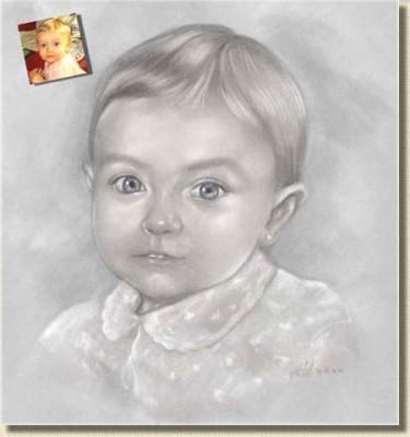dessiner votre portrait au crayon sur base photo