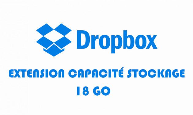 étendre la capacité de stockage de votre compte Dropbox à 18GO