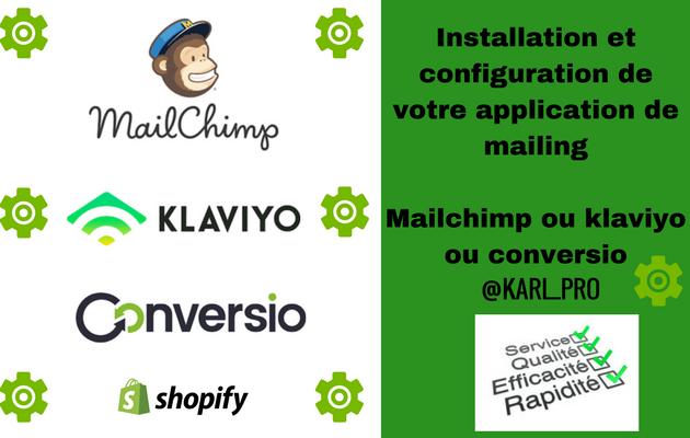 aider à installer un système de mailing sur votre boutique Shopify
