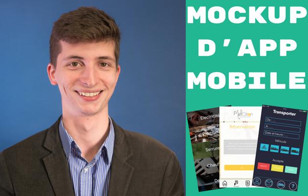 créer un design animé (mockup, maquette, UI) de votre application mobile
