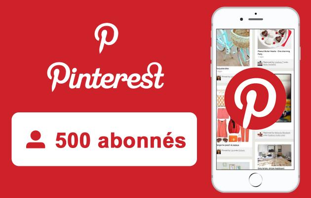 vous fournir 500 abonnés Pinterest de Qualité