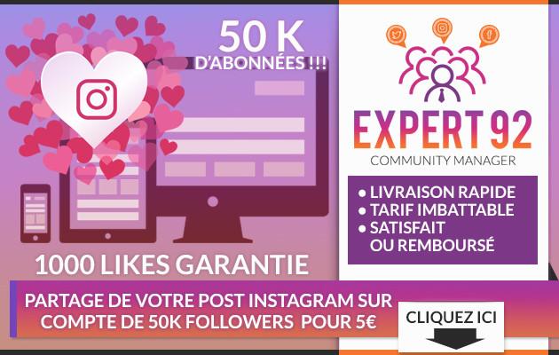 partager votre publication sur un compte instagram de 30000  Followers