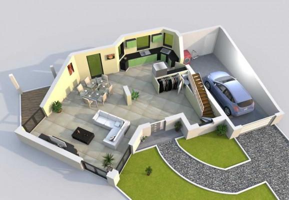 je vais dessiner la 3d de votre maison a partir un plan 2d