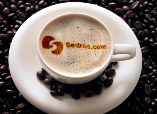 mettre votre nom ou votre logo sur du café
