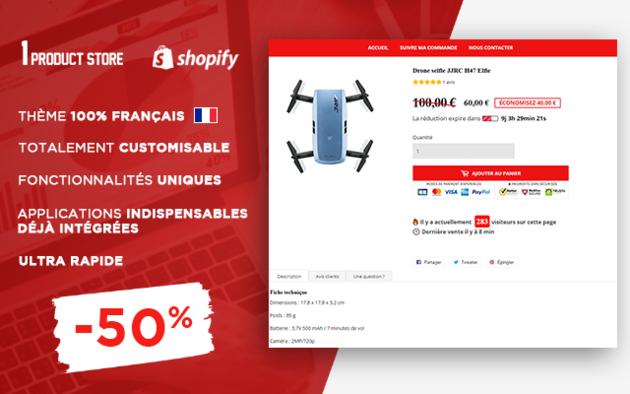 vous donner un thème Shopify MONO-PRODUIT