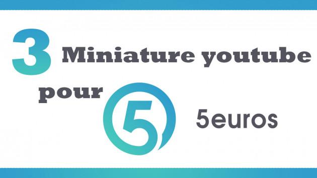 créer 3 miniatures ( thumbnails ) pour vos videos youtube