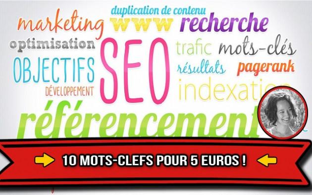 vous trouver 10 MOTS-CLEFS pour le REFERENCEMENT de votre site