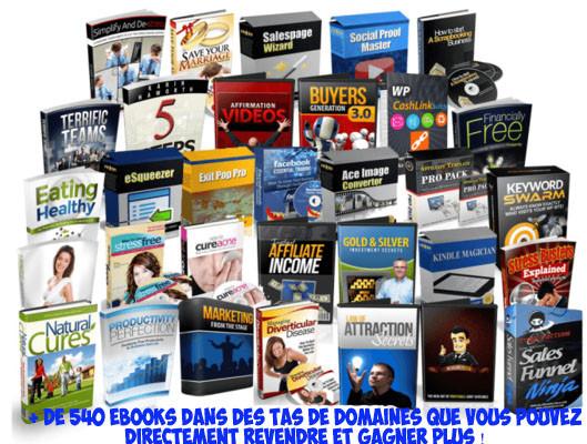 vous livrer + de 1000 ebooks (anglais) + droits de reventes + BONUS ebooks FRANÇAIS