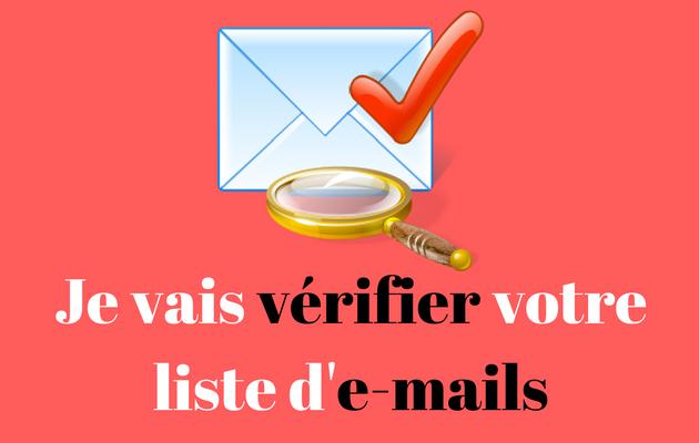 vérifier votre liste moins de 2000 e-mails