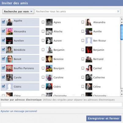 inviter 200 de mes amis Facebook Français à liker votre page