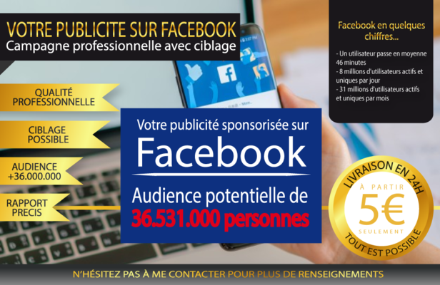 réaliser votre campagne de publicité sur Facebook