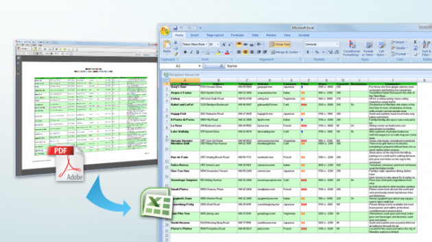 transformer un fichier PDF en document Word ou Excel