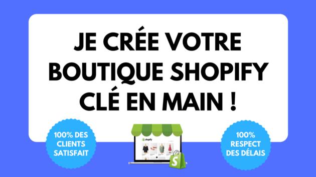 aider à créer votre boutique Shopify en DropShipping