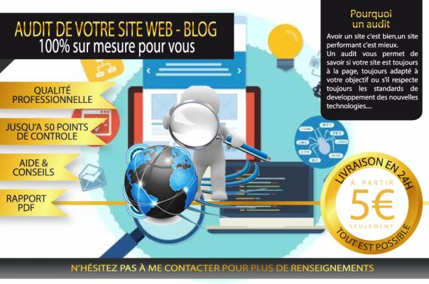 réaliser un AUDIT de votre site web ou blog