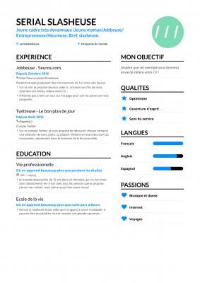 vous créer un CV tendance et design