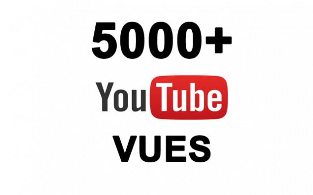 ajouter 5000 vraie vue de qualitée sur votre video YOUTUBE