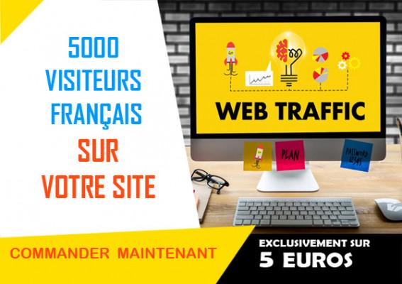 vous ramener 5000 visiteurs français sur votre site