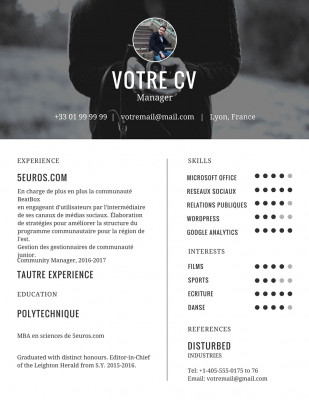 embellir le design de votre CV