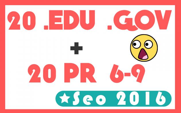 BOOSTER votre ranking avec 20 EDU GOV et 20 backlinks PR9-PR6