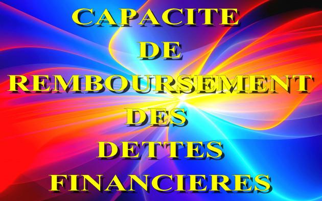 calculer votre Capacité de Remboursement de vos Dettes Financières