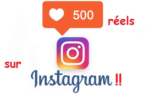 vous obtenir 500 likes REELS sur Instagram