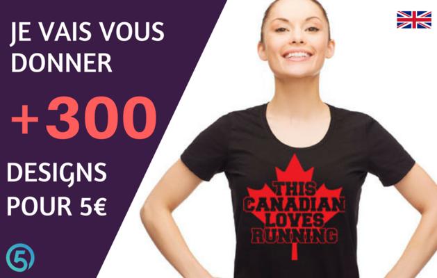 vous donner +300 designs de t-shirts en anglais