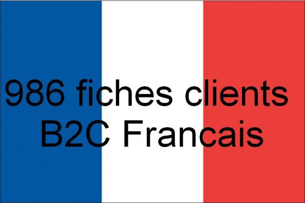 vous fournir une base de donnée contenant 986 fiches des consommateurs français B2C