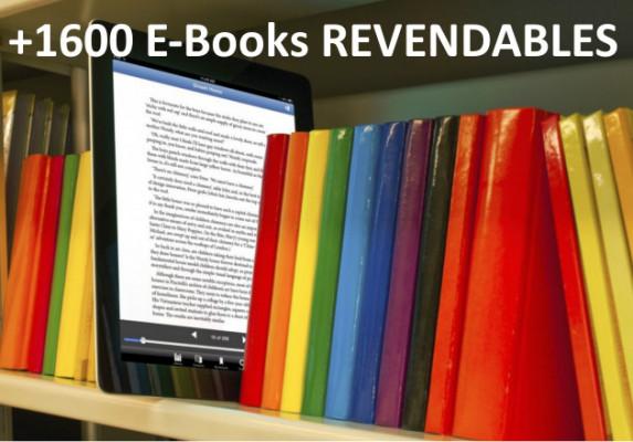vous offrir + de 1600 E-Books anglophones revendables.