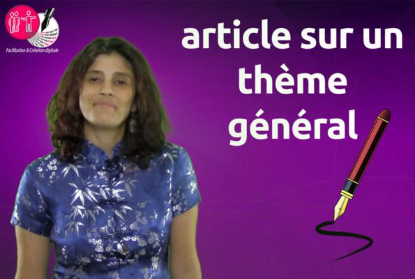 rédiger un article pour votre site ou votre blog