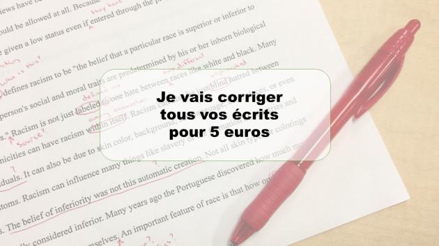 corriger tous vos écrits