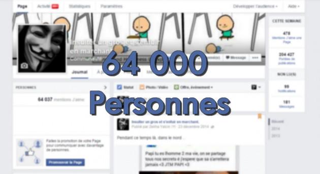 faire votre publicité à 64000 personnes sur ma page Facebook
