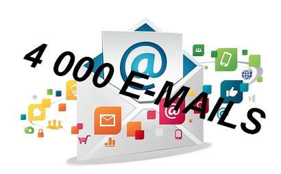 vous fournir 4 000 adresses email francais validé de 2016