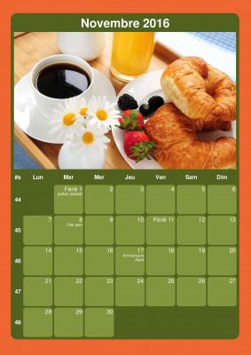 créer des calendrier personaliser