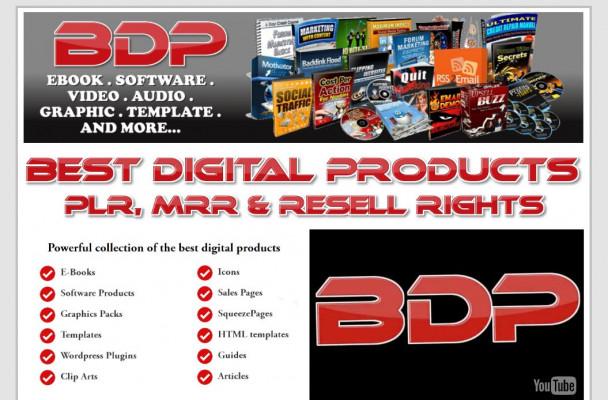 vous transmettre 40 Produits digitaux avec droits de revente