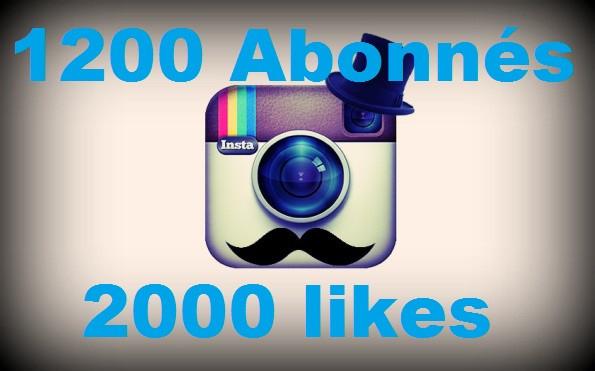 vous ajouter 1200 Abonnés Instagram  de Haute Qualité ou 2000 Likes