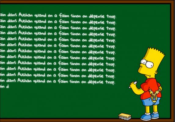 créer une punition Bart Simpson