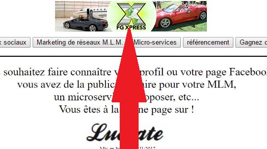 vous installer votre bannière publicitaire sur le site Lucrate pendant 1 mois