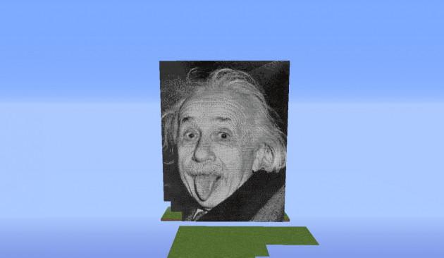 crée un pixel art sur minecraft vous représentant