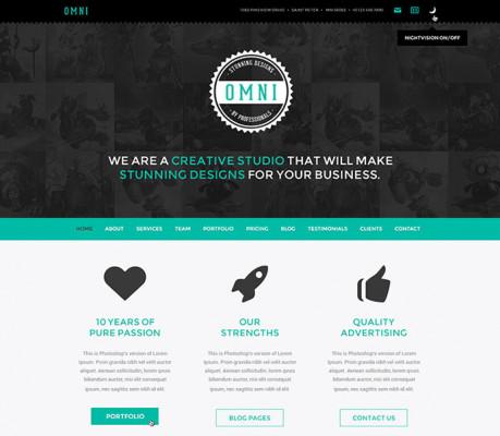créer une ONE PAGE responsive design pour présenter votre activités