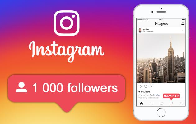vous fournir 1 000 Followers Instagram de Qualité