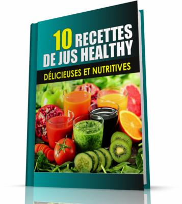 livrer un ebook de recettes de jus healthy avec droit de distribution