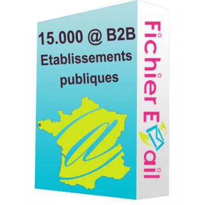 vous fournir 13 000 adresses Emails d'établissements publiques France