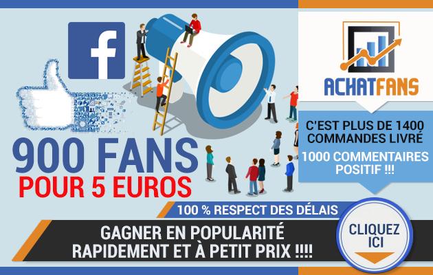 vous fournir 900 fans facebook pour votre page