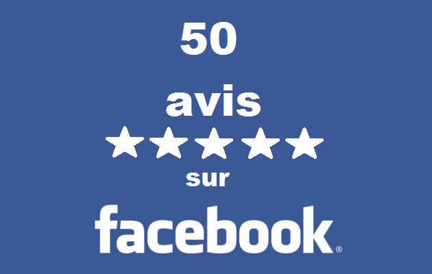 vous apportez 50 avis 5 étoiles pour votre page Facebook
